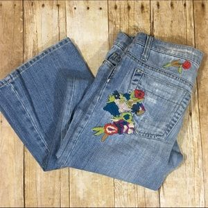 Joe's Jeans | Embroidered Distressed Jeans